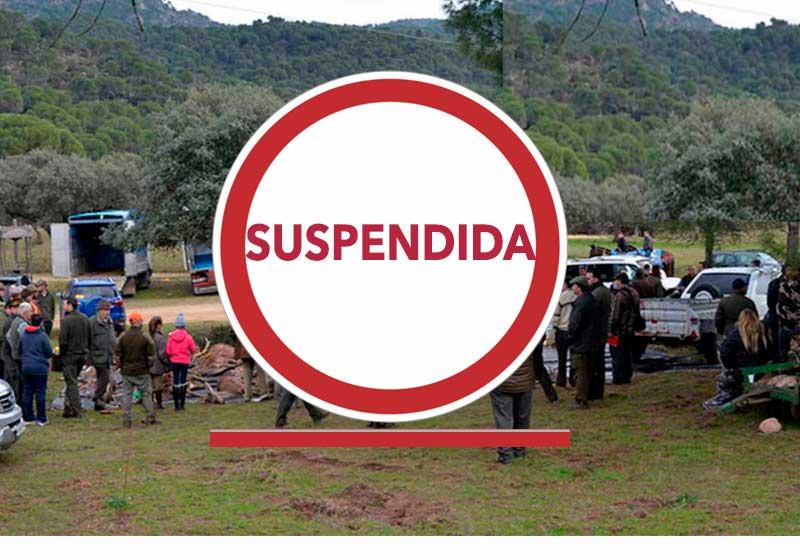 Aluvión de suspensiones de monterías en este fin de semana