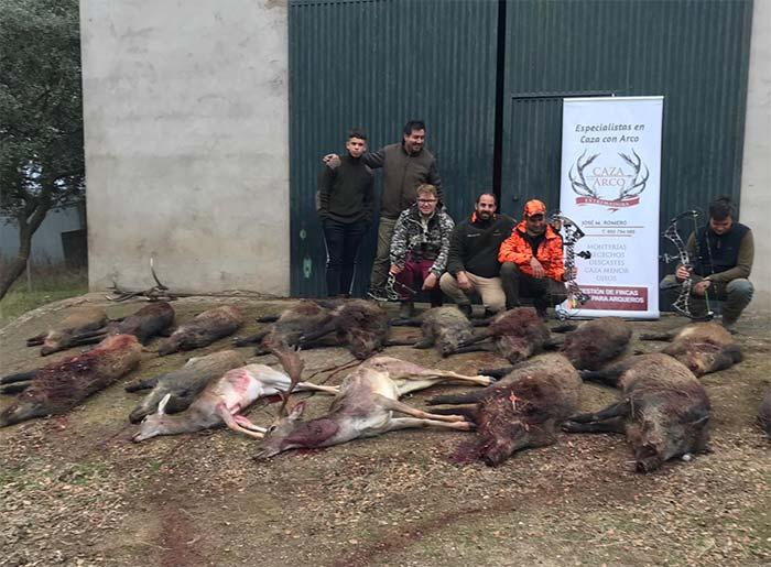Resultado Montería El Membrillar 2019 Caza con Arco Extremadura