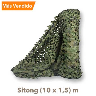 Red Camuflaje Sitong 10x15 verde