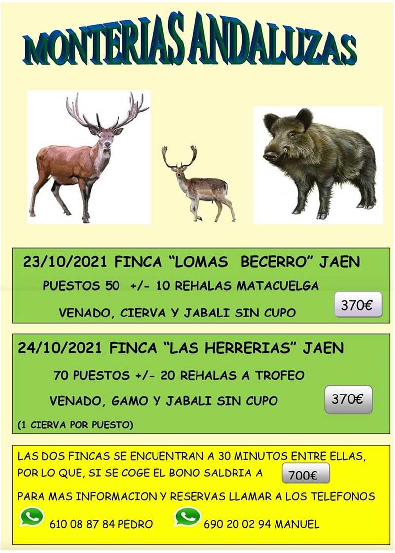 Programa Monterías Monterías Andaluzas