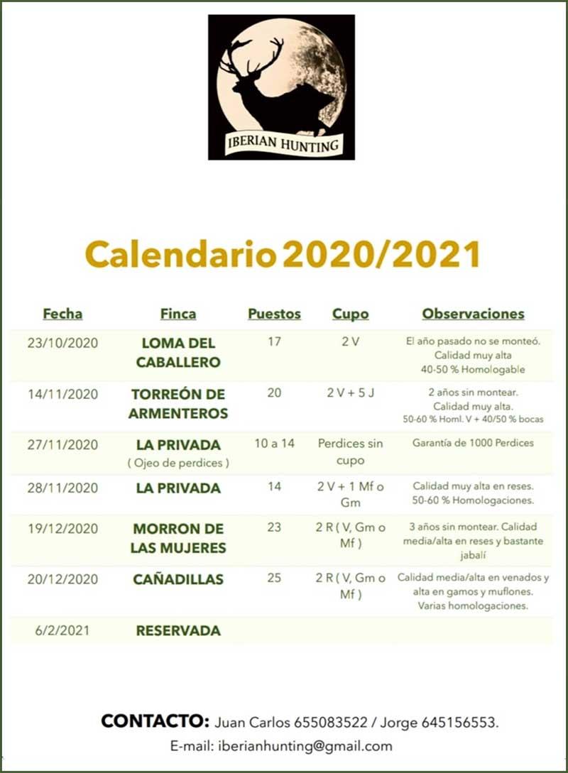 Programa Monterías Iberian Hunting