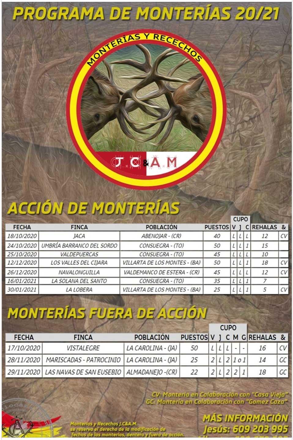 Programa Monterías JC y AM