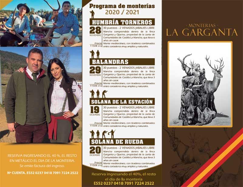 Programa Monterías La Garganta
