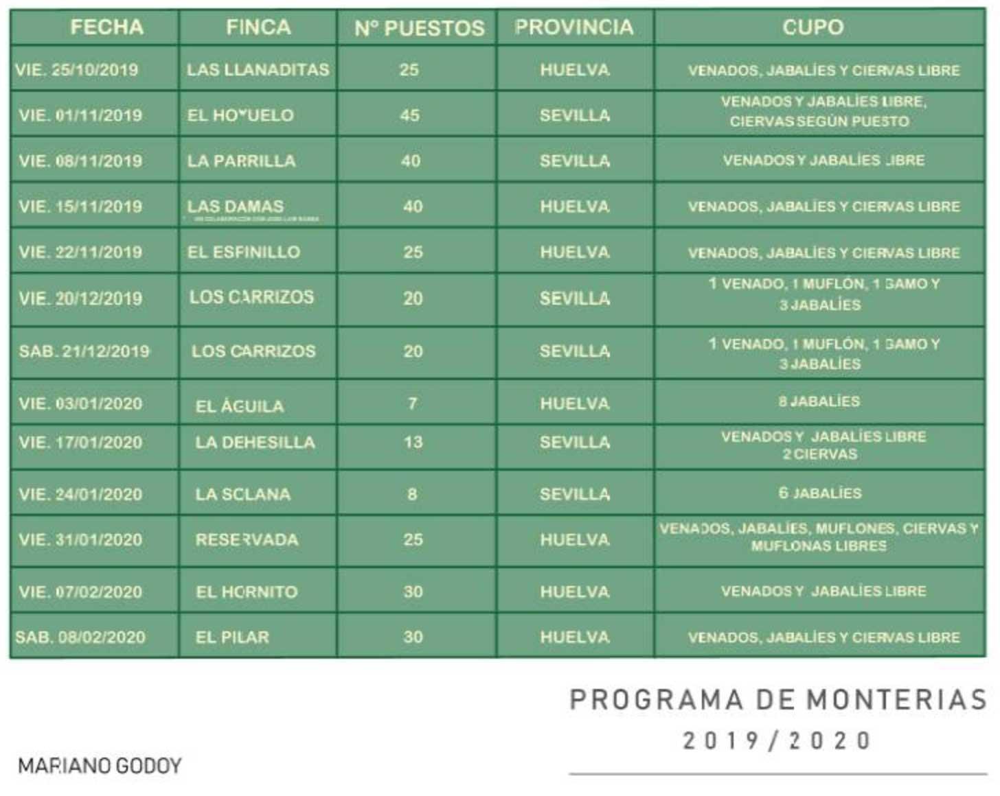 Programa Monterias Mariano Godoy