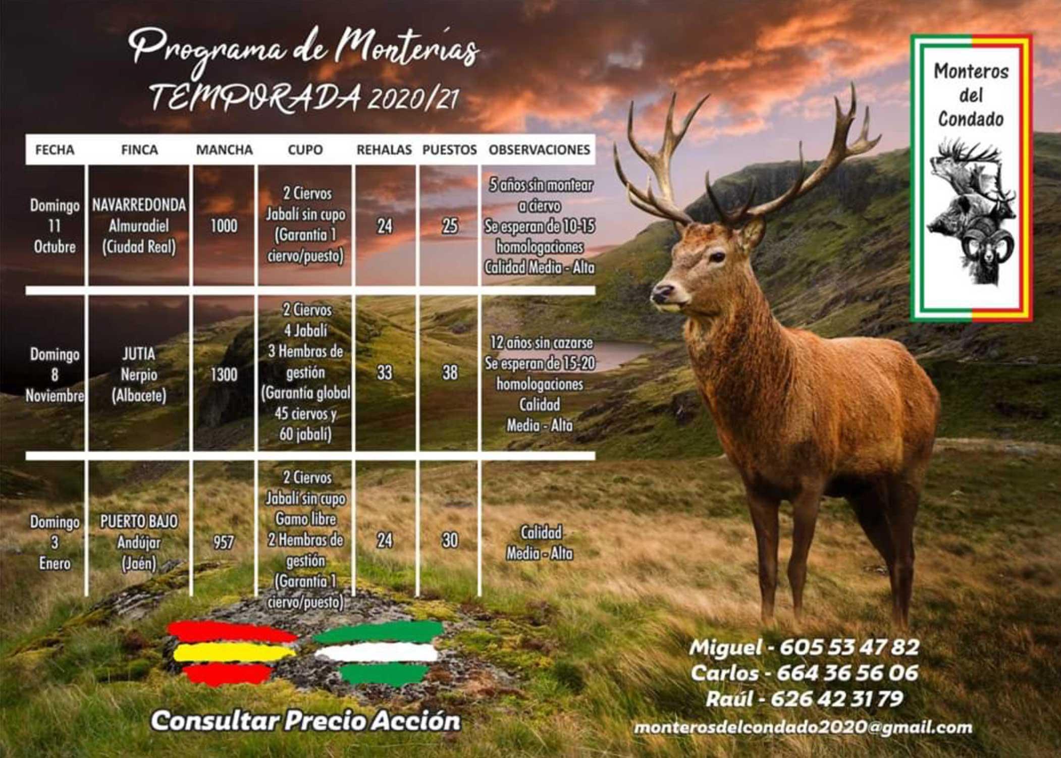 Programa Monterías Monteros del Condado