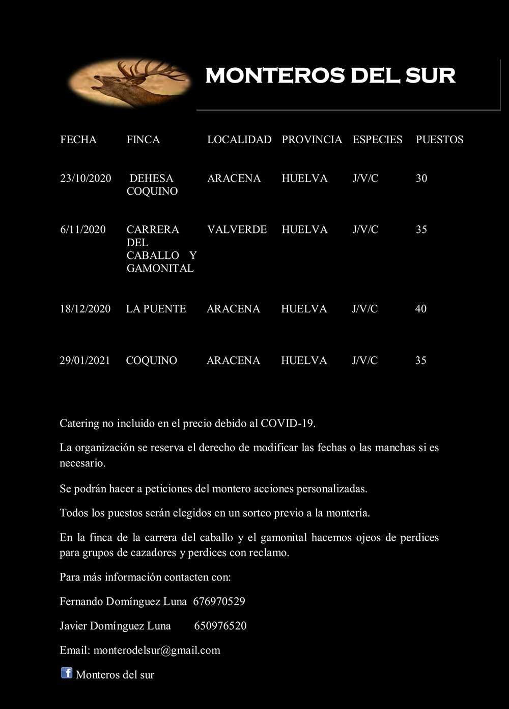 Programa Monterías Monteros del Sur