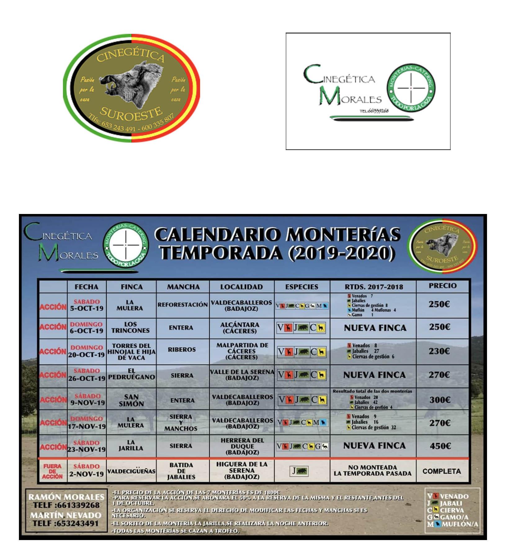 Programa Monterías C. Suroeste - C. Morales