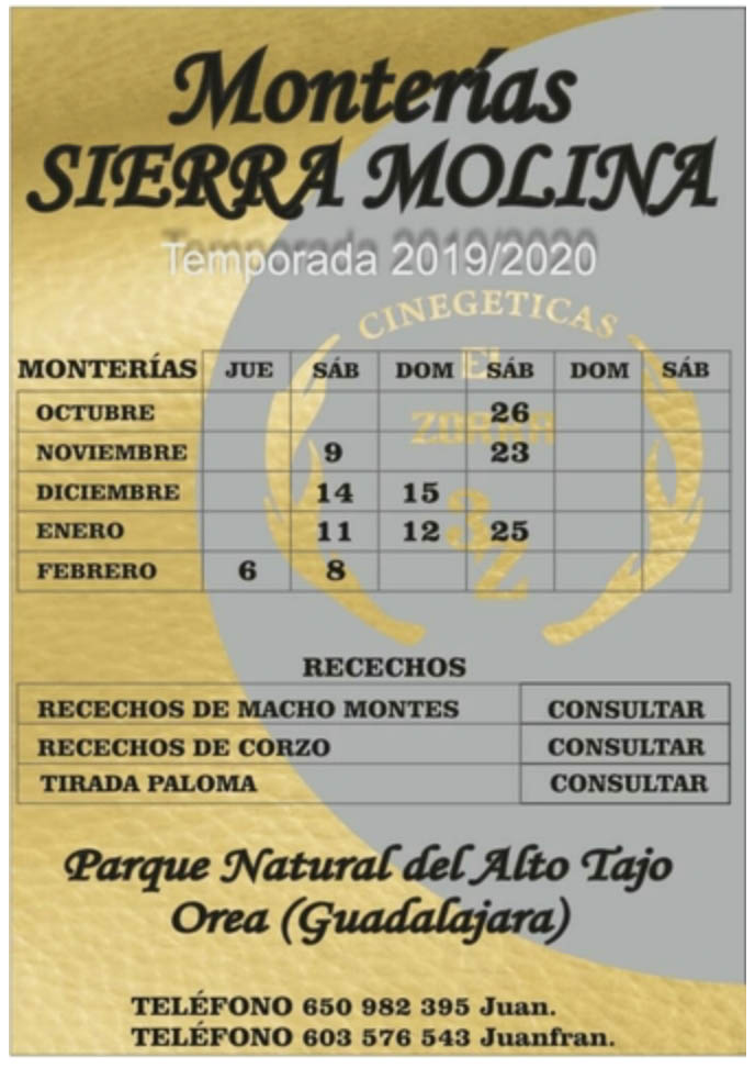 Programa Monterías Sierra Molina