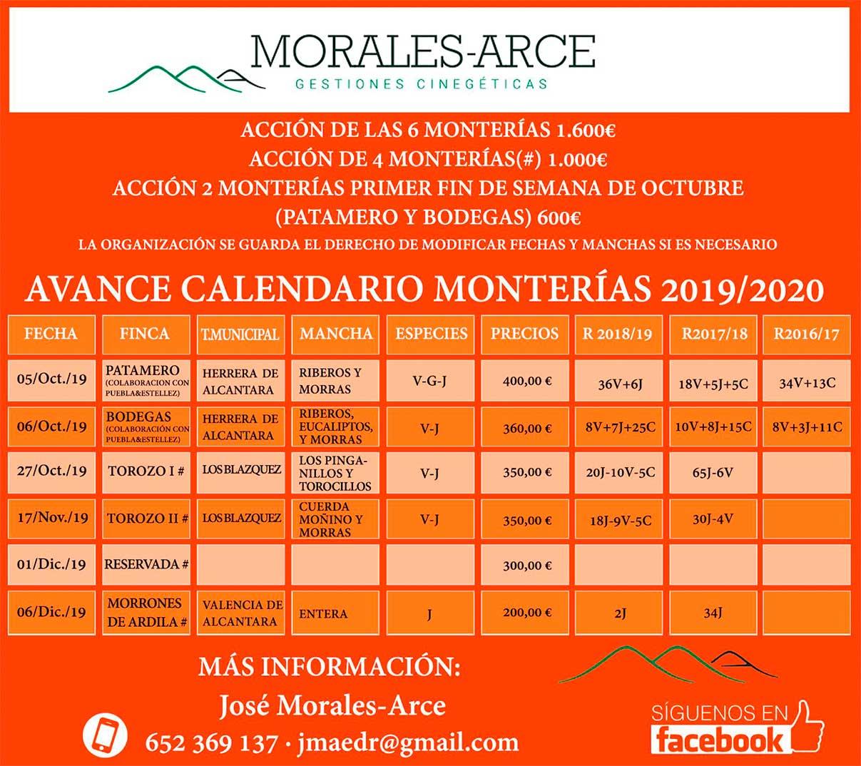 Programa Monterías Morales Arce