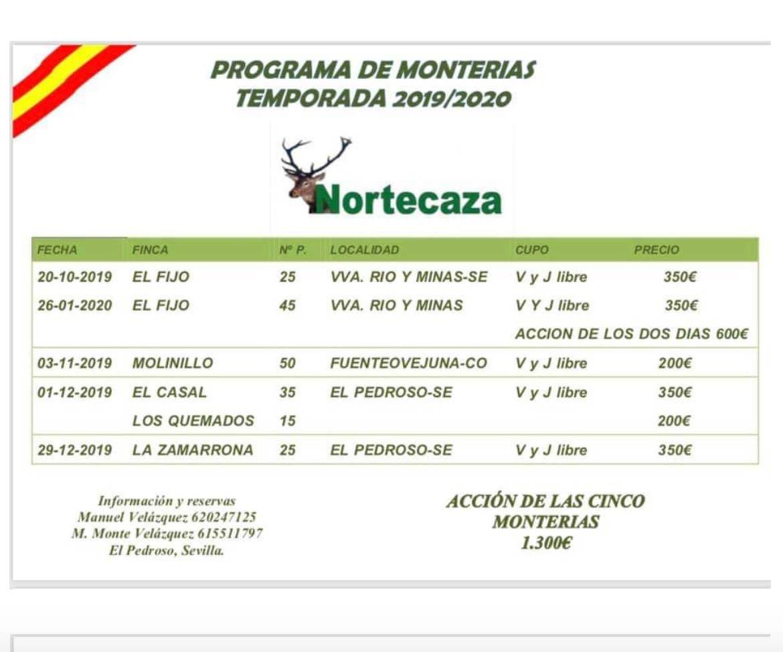 Programa Monterías Nortecaza