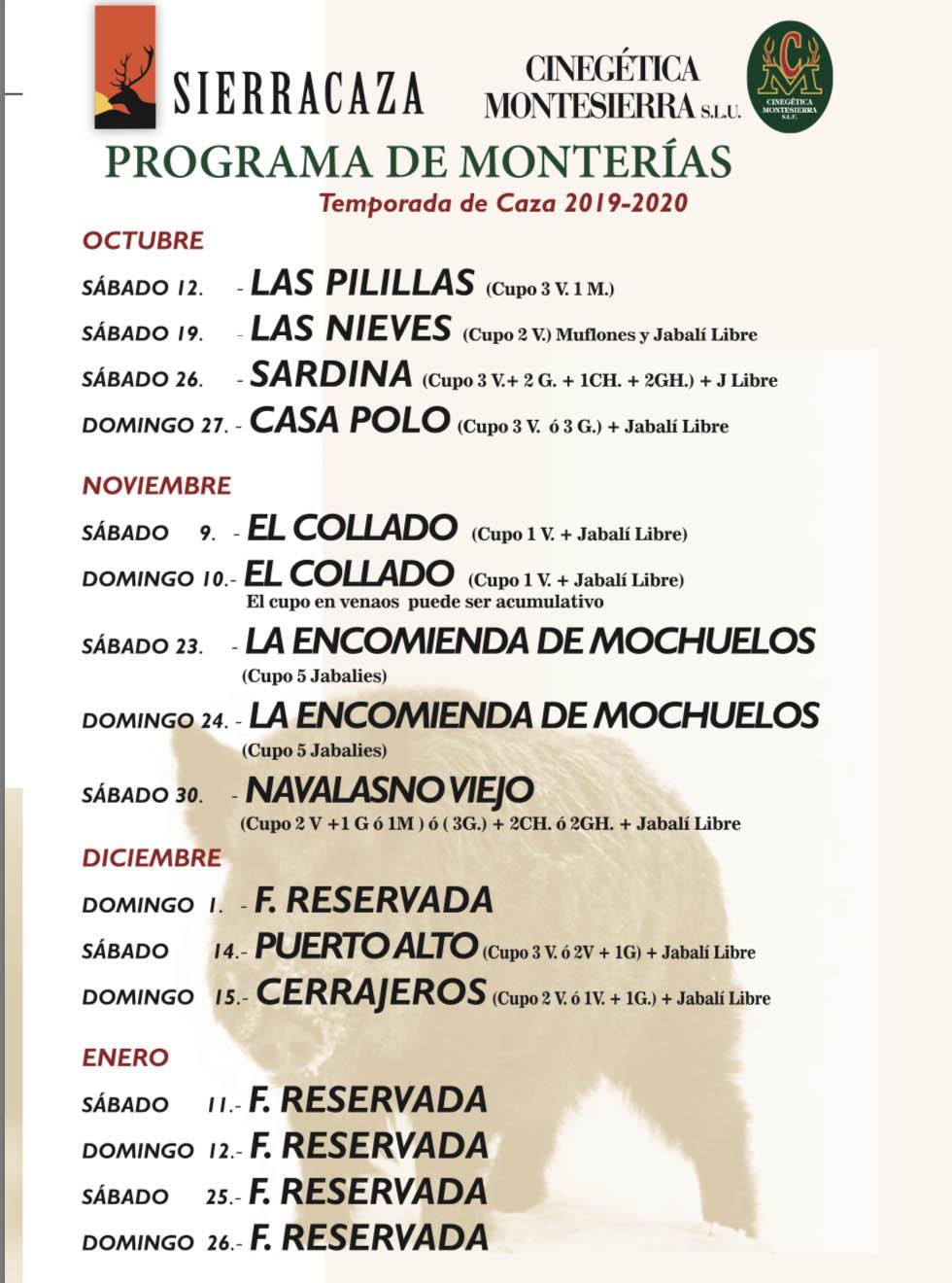 Programa Monterias Sierracaza