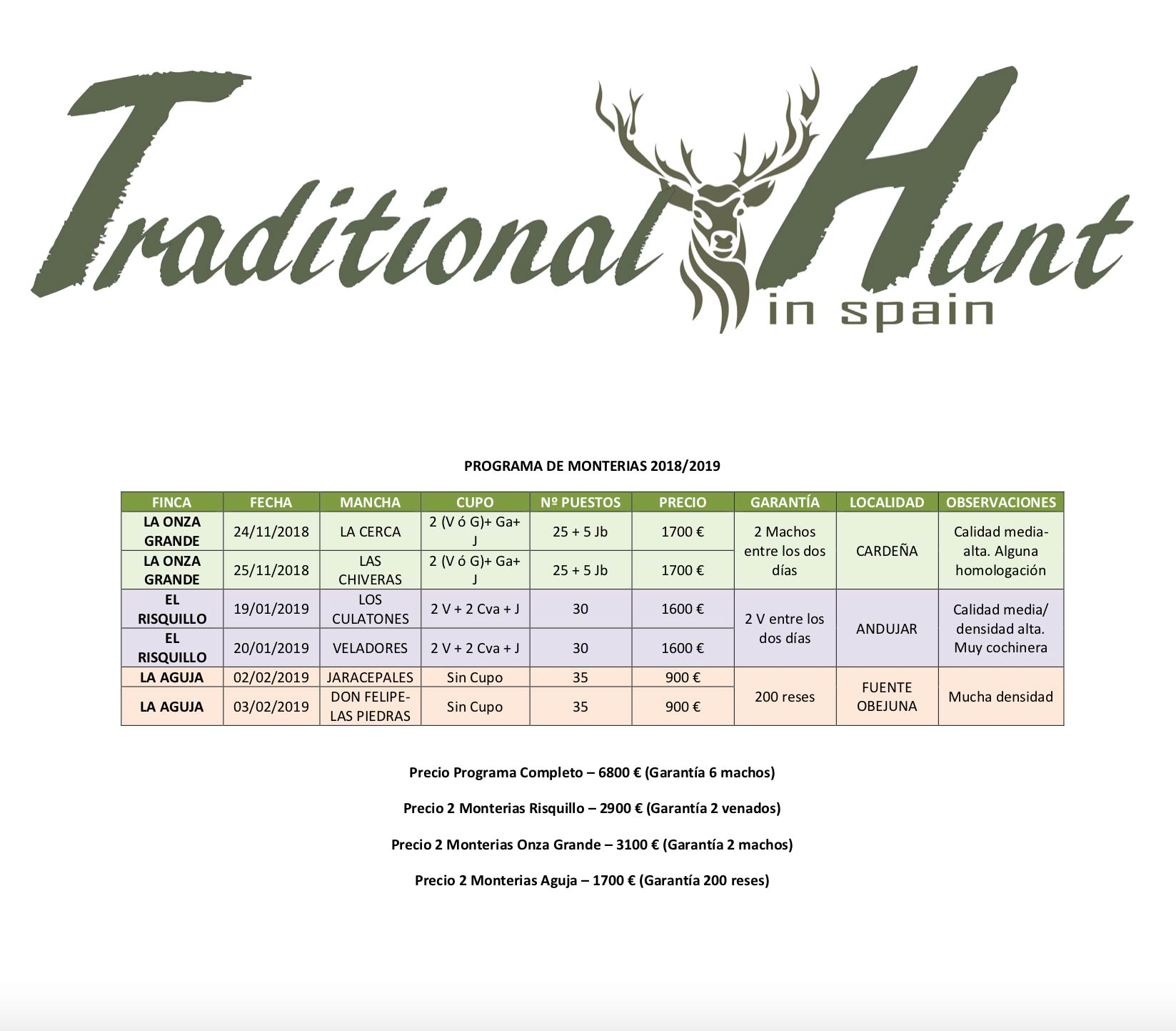 ProgramaTraditionalHunt