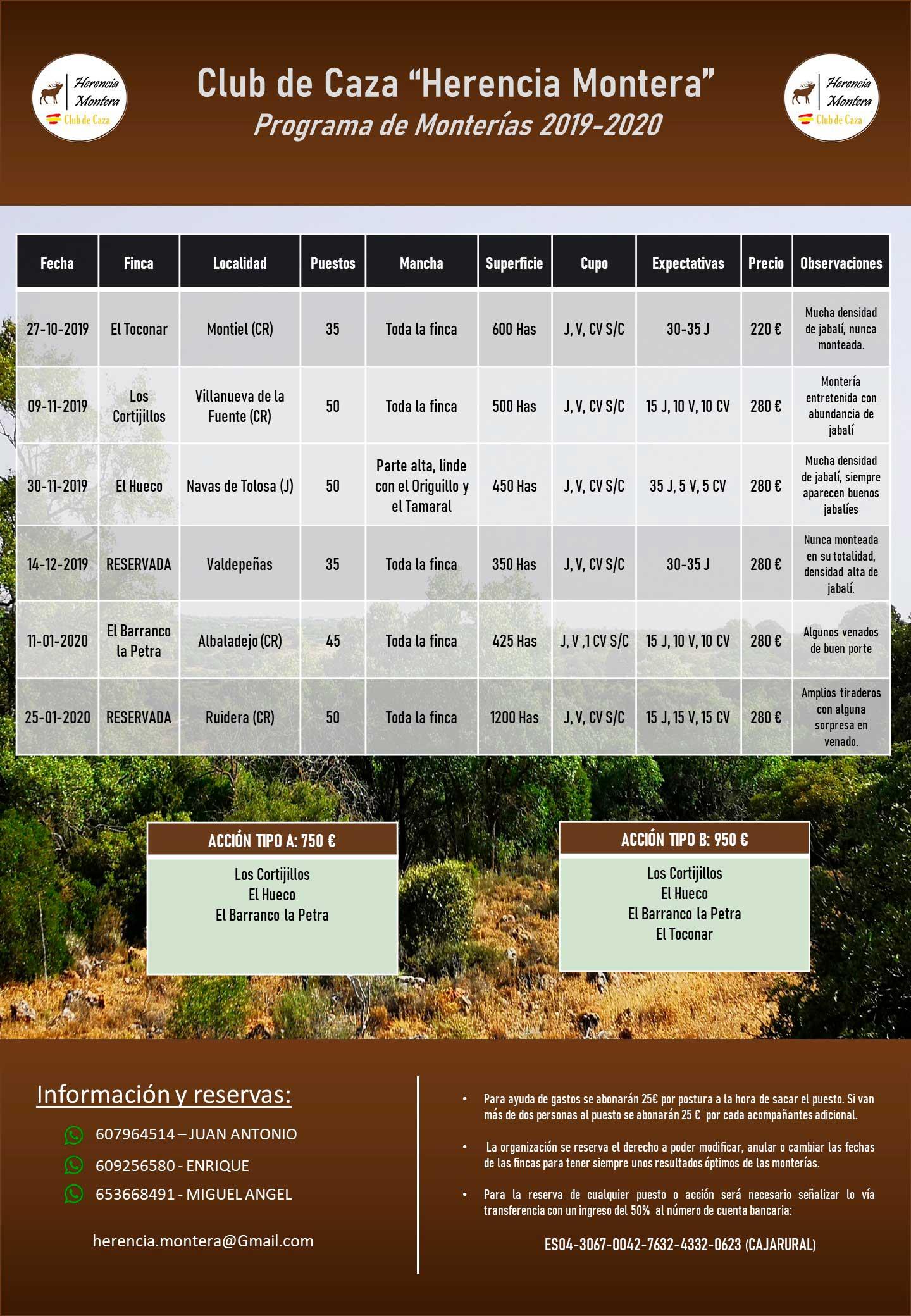 Programa Monterías Herencia Montera