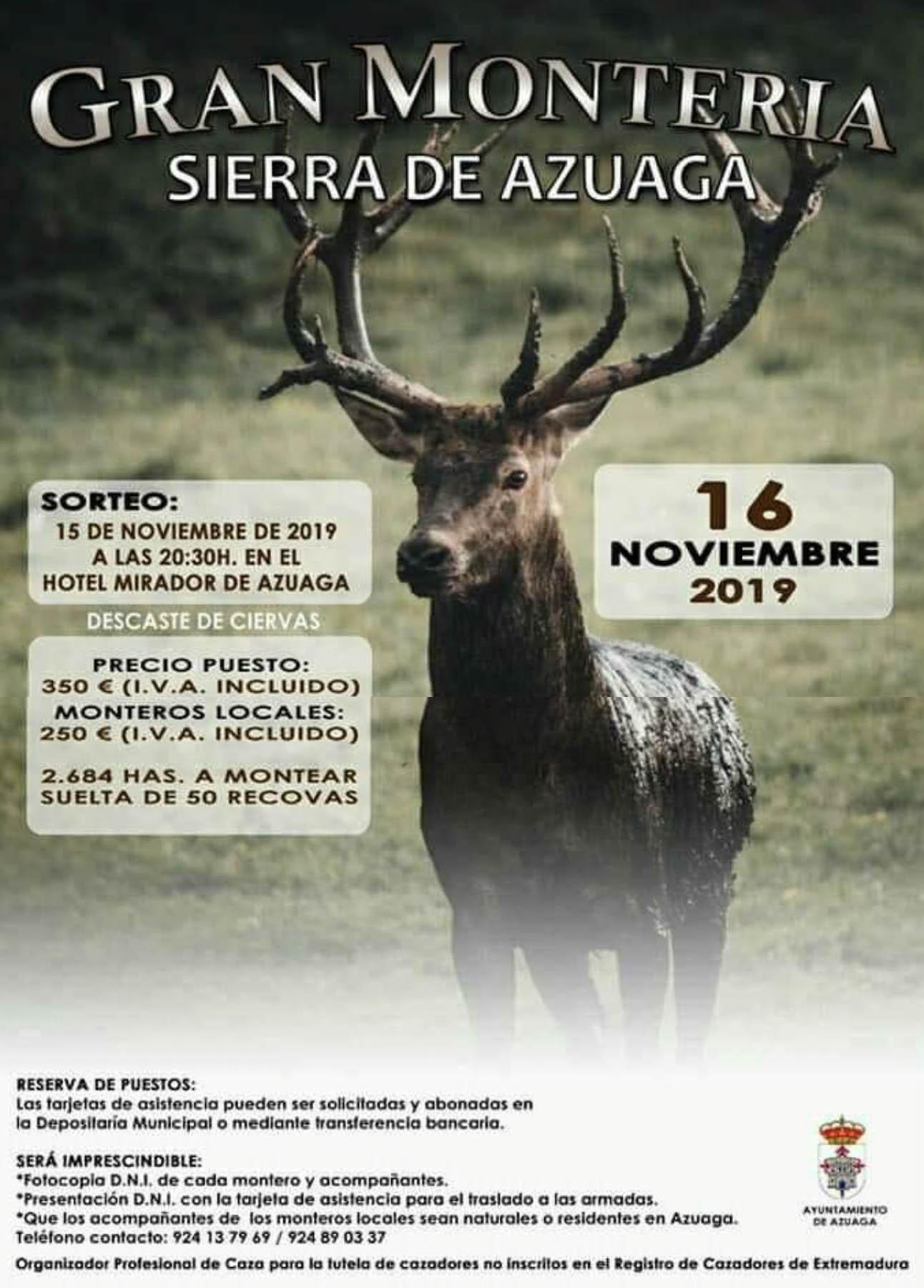 Programa Montería Sierra de Azuaga