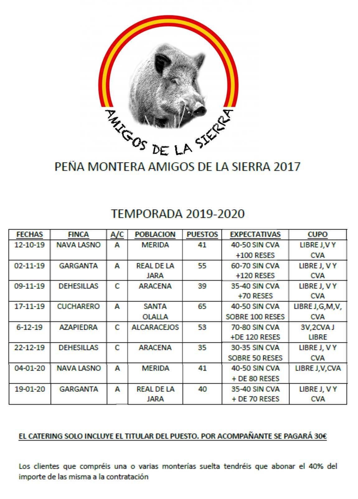Programa Monterías Amigos de la Sierra