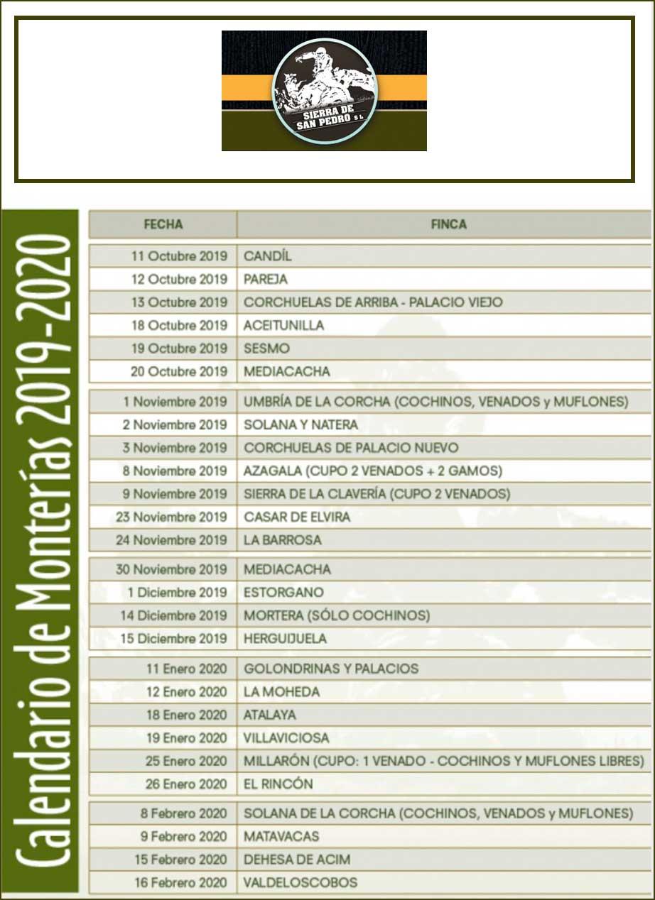 Programa Monterías Sierra de San Pedro