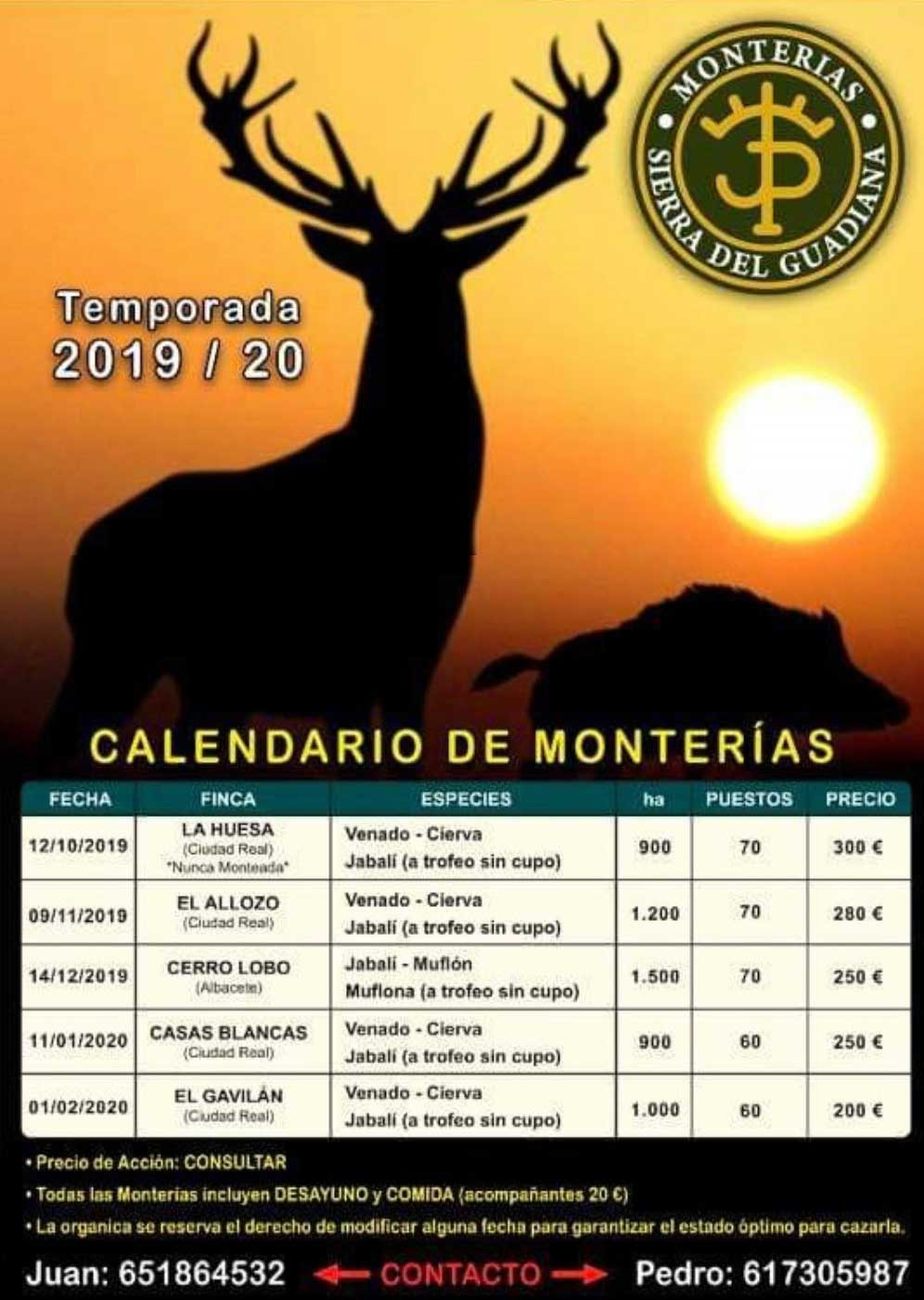 Programa Monterias Sierra del Guadiana