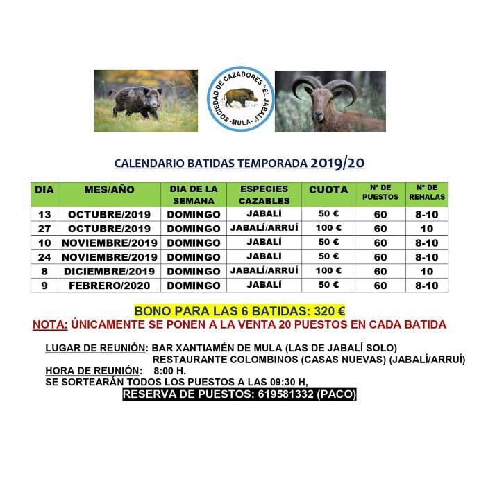 Programa Sociedad de Cazadores El Jabalí de Mula